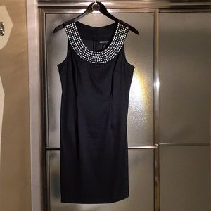 Little black cocktail dress with stunning collar